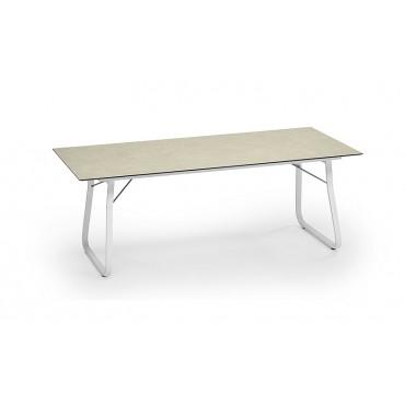 Weishäupl Klapptisch Ahoi mit HPL Tischplatte Beige